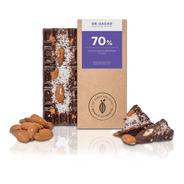 Tableta Chocolate Dr Cacao Almendras Y Coco X70 Grs Envio