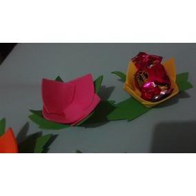 30 Flores Eva Porta Bombom- Enfeites De Mesa Aniversário