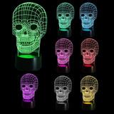 Lámpara Skull Led 3d, 7 Colores Nueva En Su Caja, Importada