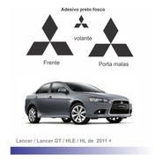 Adesivo Preto Fosco Para Emblemas Mitsubishi Lancer 2011+
