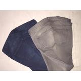 Liquido ! Jeans Hym Gris O Azul Como Nuevo Mujer !