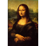 Lienzo, Tela. Leonardo Da Vinci, La Mona Lisa. 65x100cm
