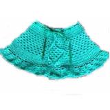 Saia Infantil Em Crochê Luxo Com Cordão Na Cintura - Novo!