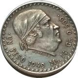 Réplica 1949 Peso Morelos Cachetón 1949