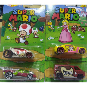 Combo C/ 4 Carrinhos Hot Wheels Super Mario Colecionaveis