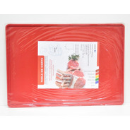 Tabla De Corte Gastronómica Plastico Teflonado 35x50 Roja