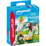 Playmobil Veterinaria Con Ternero Animal Special Plus 70252
