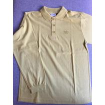 Camiseta Polo Infantil Mostarda Manga Longa - Tyrol - Tam10