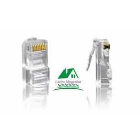 Pacote 1000 Conectores / Capas Rj45 Cabo Rede Lan Ethernet
