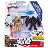 Playskool Galactic Heroes Figuras Power Up Chewbacca Y First