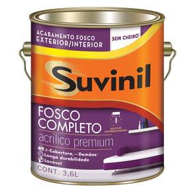 Kit C/ 5 Acrilico Fosco Suvinil Branco 3 6lts