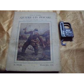 Pesca-libro Sobre Pesca Y Balanza De Mano Usa,antigua