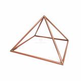 Pirâmide Queops De Cobre 16cm - Radiestesia Tubo Grosso