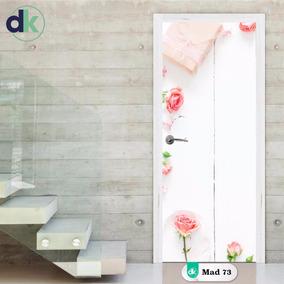 Adesivo Madeira Branca Para Porta Floral - Mad 73 Dk
