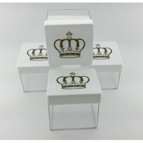 90 Caixa Coroa / 90 Caixinha Coroa Acrílico 5x5 Branca