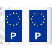 2 Adesivos Portugal União Europeia - Por - Outros Países