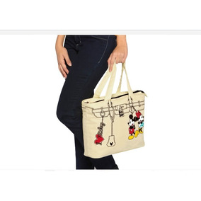 Bolsa Andrea Tote Color Beige Disney-mickey Mouse