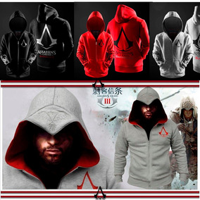 Jaqueta, Moletom, Casaco Slim Fit Masculina Assassins Creed