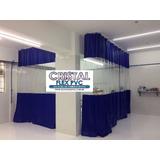 Cortina Pvc Colorida C/ Visor Transparente Cabine Pintura M²
