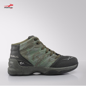 Calzado De Basketball Pontiac Verde Militar 6070