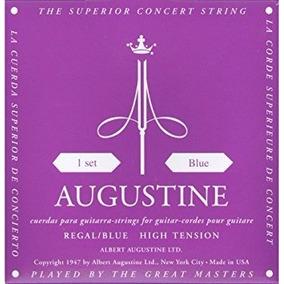 Cuerdas Guitarra Clásica Augustine Regal Blue Tensión Alta.