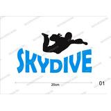 Adesivo Skydive Paraquedismo Queda Livre Salto Paraquedas 01