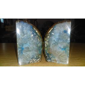 Geoda Ágata Azul De Tres Caras