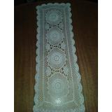 Antigua Carpeta De Crochet Natural