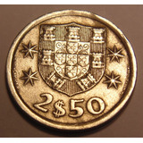 Moeda Portuguesa, 2$50 Escudos 1974, Bela E Rara