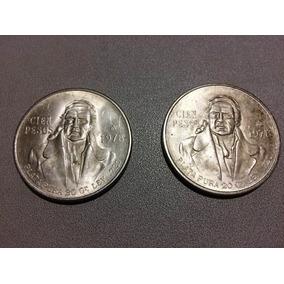 Monedas De Plata 100 Pesos Morelos Ley .720, 20 Gr. 1978