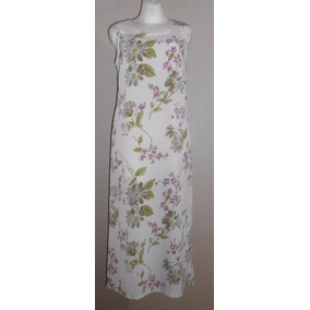 Kathie Lee Lindo Maxi Dress Color Crema Con Flores Talla 8