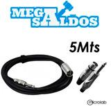 Megasaldos Cable Microfono Plug Canon Xlr 5 Metros Audio Mic