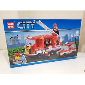 Lego City Bombeiro E Polícia Blocos Para Montar Wise Hawk