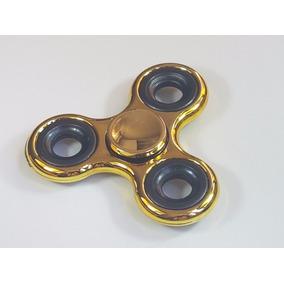 Fidget Spinner Acabado Metalico Dorado Cromo Envío Gratis