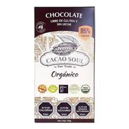 Chocolate Vegano 85% Orgánico Cacao Soul Barra 100g