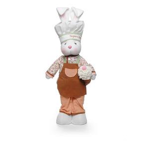 Coelha Em Pé C/ Roupa De Chef Médio