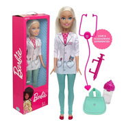 Boneca Barbie 70cm Profissão Médica Veterinária Articulada