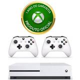 Console Xbox One S 4k 500gb + 2 Controles + Garantia 1 Ano