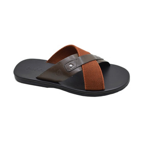 Chinelo Masculino De Couro Stock Sandals Cruze