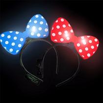 10 Diademas Luminosas Moño Minnie Mouse Orejas Fiestas