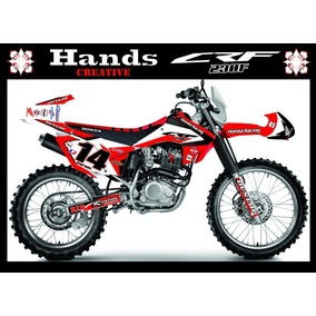 Kit Adesivos 3m Personalizados Crf 230 2017 Red Bull Monster