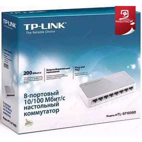 Switch Tp-link Tl-sf1008d 8 Puertos 10/100 Mbps Nuevo