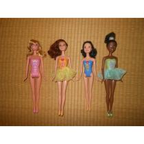 Bonecas Princesas Bailarinas Disney Lote Barbie Raras Mattel