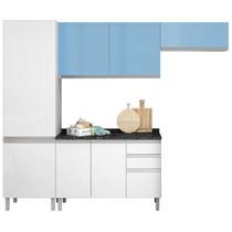 Cozinha Completa Clarice De Aço 01 Branco/azul Itatiaia