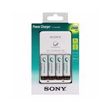 Nuevo Kit Cargador + 4 Pilas Aa Recargables 2500mha Sony !!
