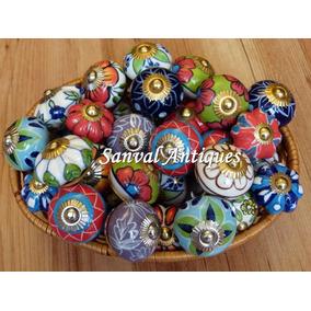 Tiradores en ceramica de la india para cajones puertas etc decoraci n para el hogar en - Tiradores de cajones ...