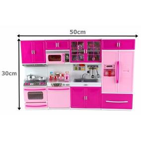Kit Cozinha Infantil Com Luz E Som - 4em1 Rosa