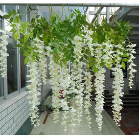 Wisteria Colgante Flores Artificial Decoración Bodas Hogar