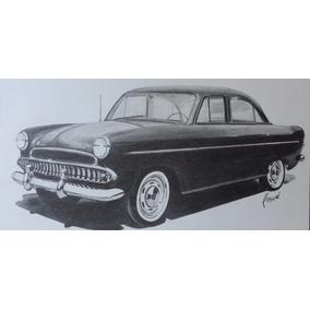Desenho Á Lápis Grafite Aero Willys 1962