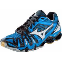 Tenis Mizuno Tornado 8 Azul Para Voleibol, Handball, Gym